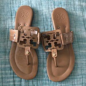 Tory Burch square Miller sandal 8 1/2 EUC